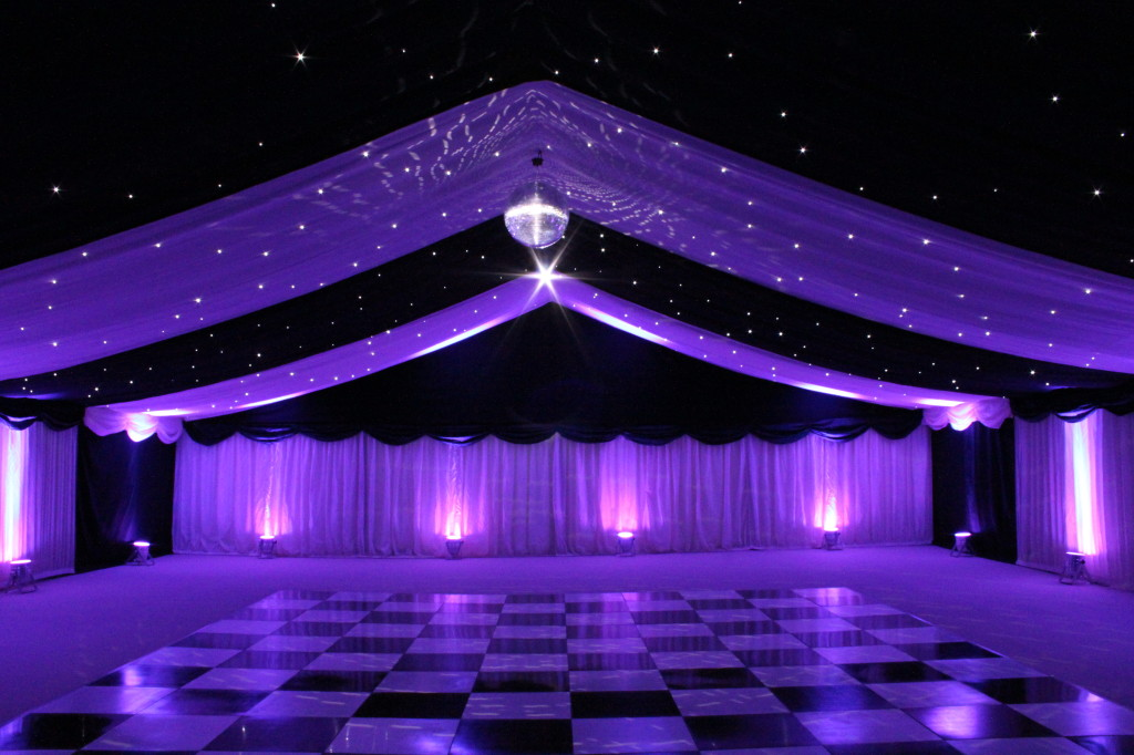 white starcloth starlight wedding backdrop hire humphries av